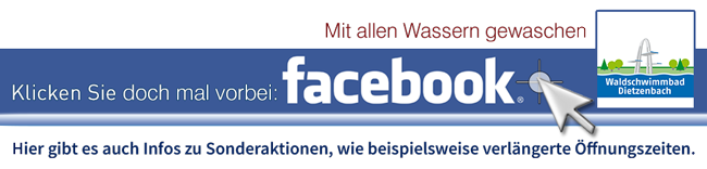 Waldschwimmbad in Facebook